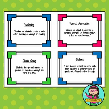 Higher-Order Thinking Strategy Key Ring Cards