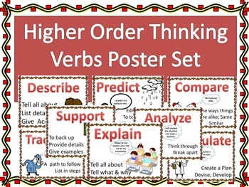 Higher Order Thinking Verbs Poster Set