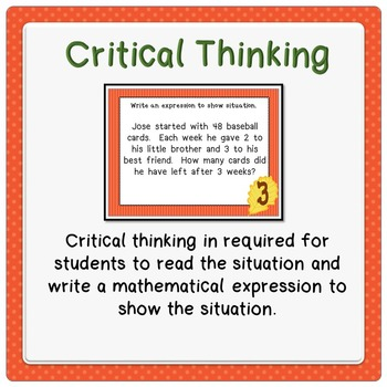 Higher Order Thinking Writing Expression Task Cards