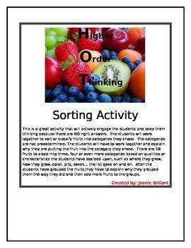 Higher Order Thinking Sorting Fruit