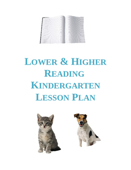 Higher and Lower Reading Lesson Plan
