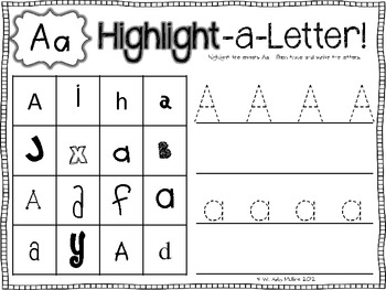 highlight a letter letter identification by babbling abby tpt. Black Bedroom Furniture Sets. Home Design Ideas