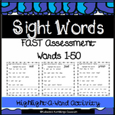 Highlight A Sight Word (First 50 FAST Assessment Sight Words)