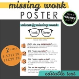 Highlight Absent and Missing Work Poster