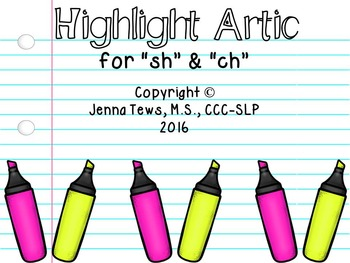"Highlight Artic for ""sh"" & ""ch"""