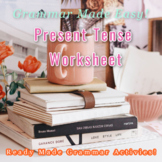 Highlight Present Tense Sentence Worksheet