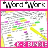 Word Work and Phonics Worksheet Bundle for 1st Grade