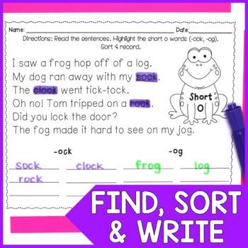 Short Vowels (CVC words): Highlight & Record