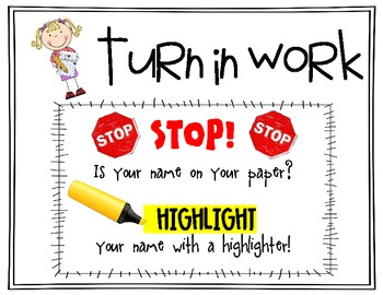 Highlight Your Name - Classroom Poster/Sign