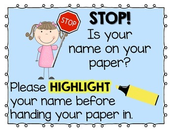 Highlight Your Name! {FREE}