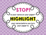 Highlight Your Name Free Poster