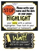 Highlight Your Name: Mini Poster {FREE}