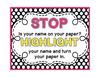 Highlight Your Name Poster