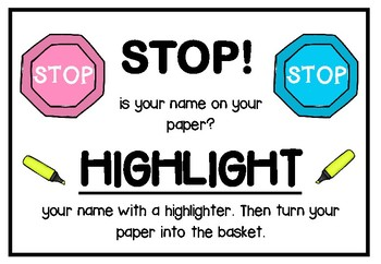 Highlight Your Name Sign