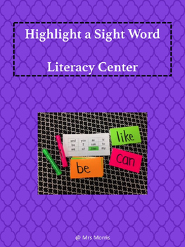 Highlight a Sight Word Literacy Center