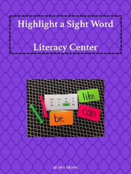Highlight a Sight Word Literacy Center