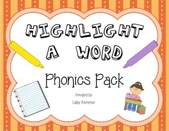Highlight a Word Phonics Pack