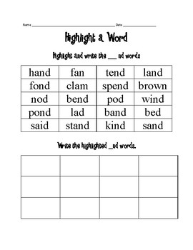 Highlight a word for word endings _st, _nd, and _mp