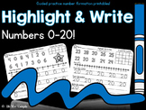 Highlight and Write Numbers 0-20!