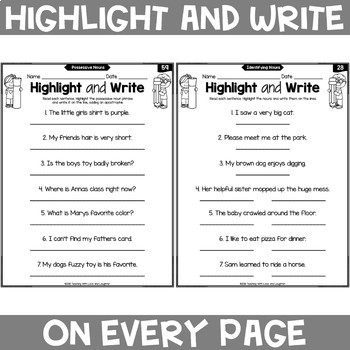 Common Core Printables