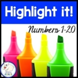 Numbers 1-20:  Highlight it!
