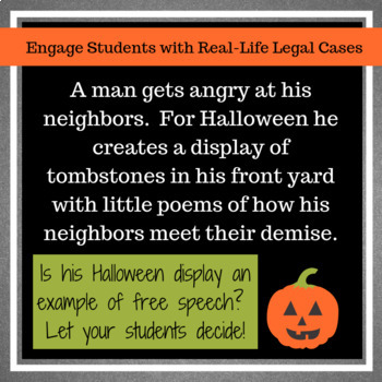 Highlight on Halloween and Free Speech: Dead Neighbors?