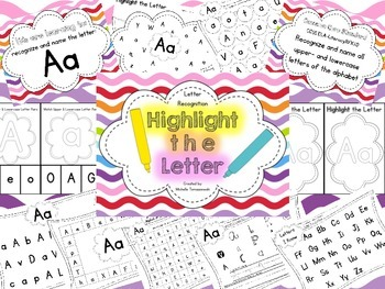Highlight the Letter {Alphabet Recognition}