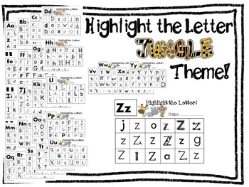Highlight the Letter Jungle Theme