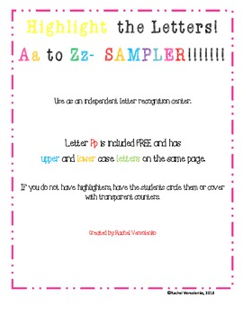 Highlight the Letter Pp FREEBIE