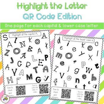 Highlight the Letter QR Code Edition: letter identification