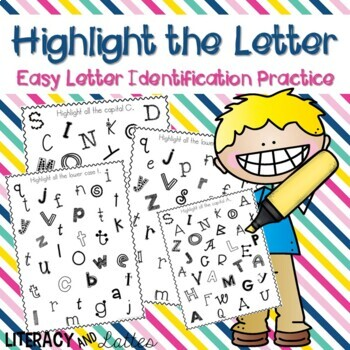 Highlight the Letter {letter identification}