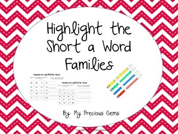Word Family Short a