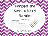 Word Family  Short u