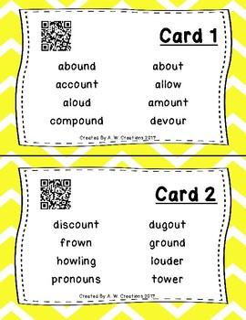 Highlight the Sounds QR Code Task Cards Set 1 IREAD PHONICS