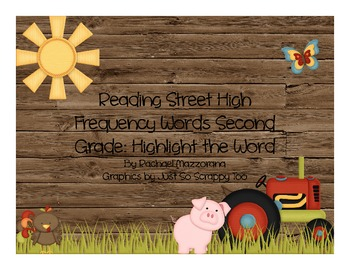 Highlight the Word: Reading Street High Frequency Words Second Grade