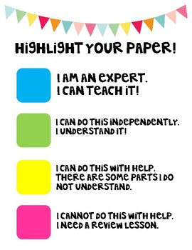 Student Self Evaluation - Highlight Assignment