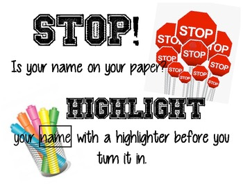 Highlight your name!