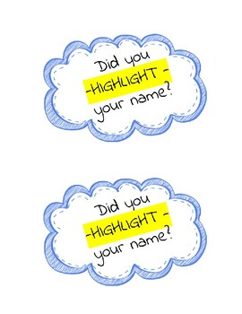 Highlight your name