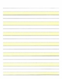 Highlighted 3-lined Paper