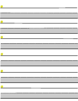 Highlighted Grey Handwriting Paper HWT Modified