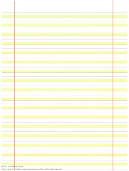 Highlighted Handwriting Paper- Great Modification