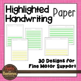 Writing Paper - Highlighted Handwriting Stationary