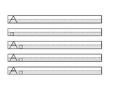 Highlighted Handwriting Sheets (Letters) - Black and White