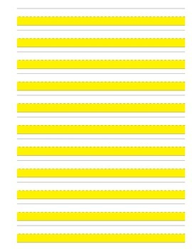 Highlighted Journal / Writing paper landscape, vertical, p