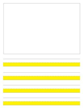 Highlighted journal paper for writing First grade writers workshop