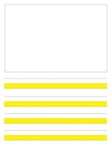 Highlighted journal paper for writing First grade writers