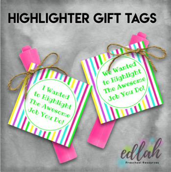 Highlighter Gift Tag