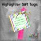 Highlighter Gift Tags
