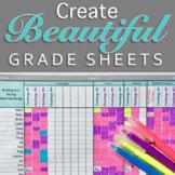 Gradebook Template: Editable and Printable