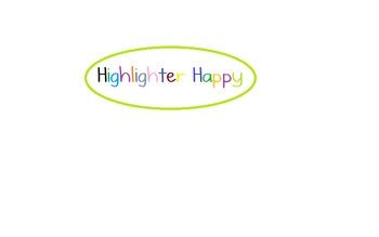 Highlighter Happy (A Code Word Worksheet)